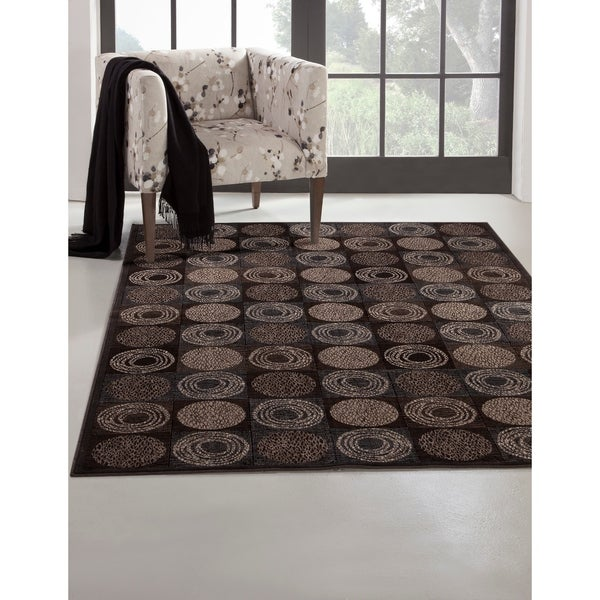 "Greyson Living Bismarck Charcoal/ Ivory/ Chocolate Viscose Area Rug - 7'10"" x 11'2"""