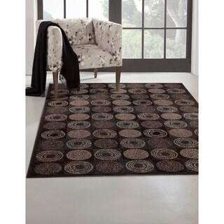 Greyson Living Bismarck Charcoal/ Ivory/ Chocolate Viscose Area Rug (7'10 x 11'2)