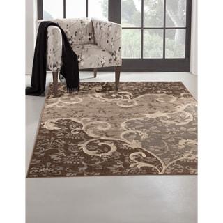 Greyson Living Odara Grey/ Chocolate Viscose Area Rug (7'10 x 11'2)