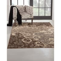 "Greyson Living Odara Grey/ Chocolate Viscose Area Rug - 7'10"" x 11'2"""