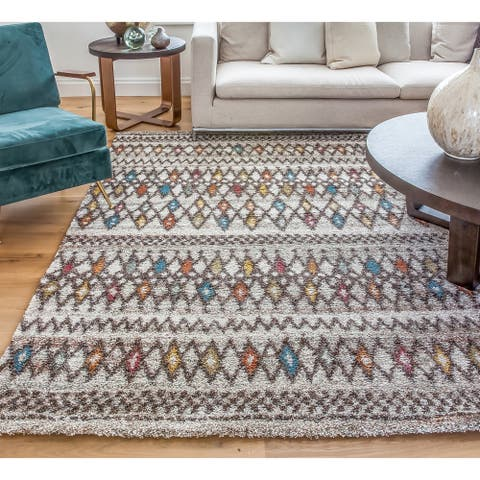 "Greyson Living Giles Chocolate/ Ivory/ Multi Olefin Area Rug (7'10 x 11'2) - 7'10"" x 11'2"""