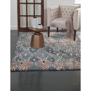 Greyson Living Reverie Blue/ Brown/ Tan Olefin Area Rug (7'10 x 11'2)