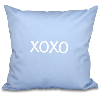 XOXO Word Print 16-inch Throw Pillow