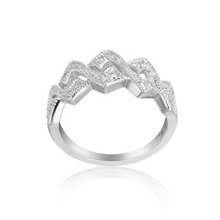Andrew Charles 14k White Gold 1/4ct TDW Diamond Ring