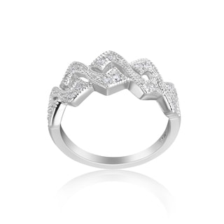 Andrew Charles 14k White Gold 1/4ct TDW Diamond Ring (H-I, SI2-I1)