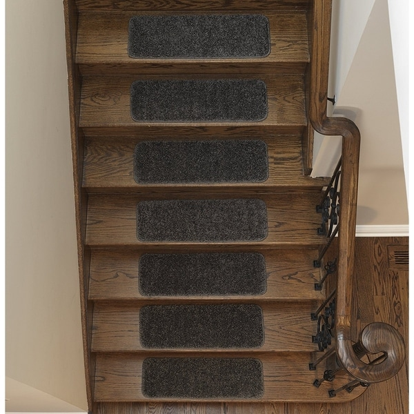 Sweethome Stores Luxury Collection Soft Solid Shaggy Non Slip Stair Treads  (9 X 26