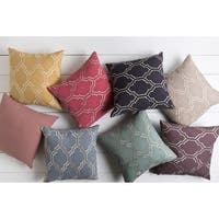 Decorative Mall 22-inch Poly or Down Filled Throw Pillow