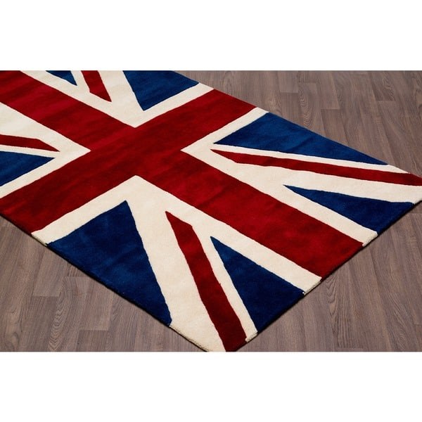 Union Jack Wool Rug 4 10 X 7 On Free
