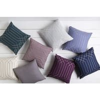 Decorative List 22-inch Poly or Feather Down Filled Throw Pillow