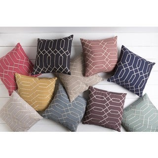 Decorative Main 22-inch Poly or Down Filled Throw Pillow