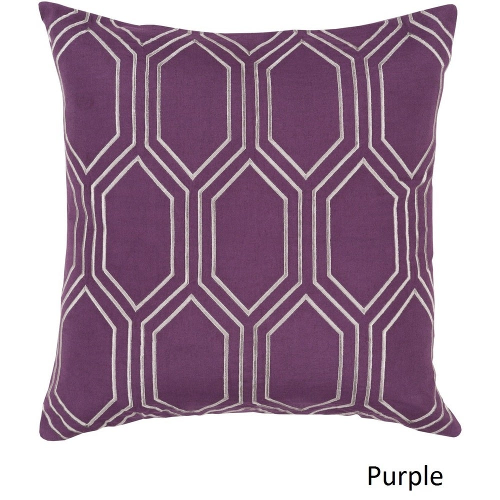 Shop Decorative Ledo 18-inch Poly or Feather Down Filled Throw Pillow - Overstock - 11484018