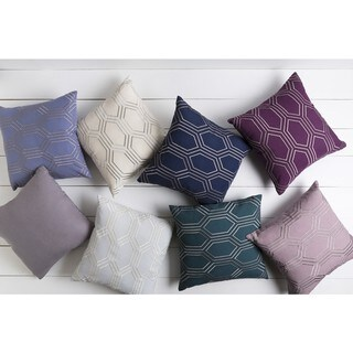 Decorative Ledo 18-inch Poly or Feather Down Filled Throw Pillow