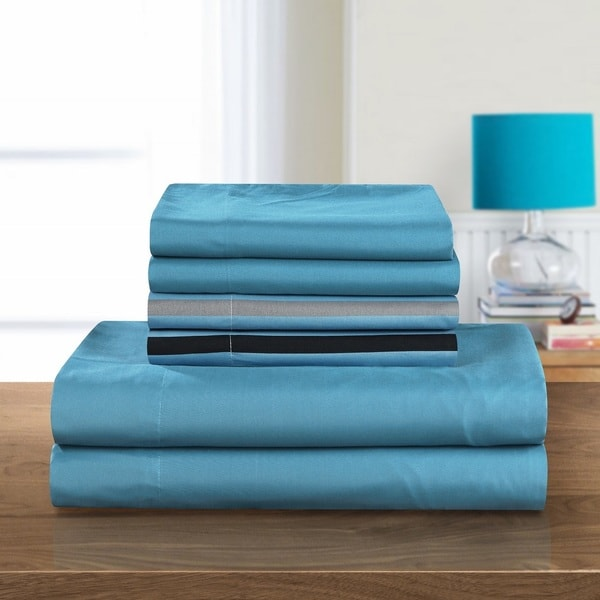 Chic Home 6-piece Clifton Striped Printed Sheet Set