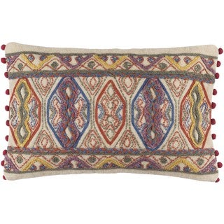 Decorative Mill Poly or Feather Down Filled Throw Pillow (22 X 14)
