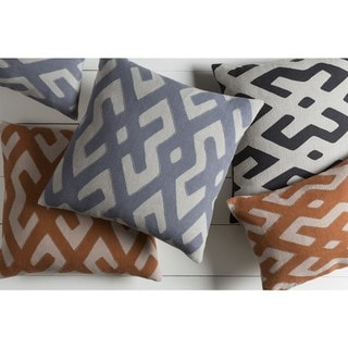 Decorative Pall 18-inch Poly or Feather Down Filled Throw Pillow