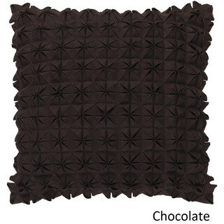 Decorative Real 20-inch Poly or Feather Down Filled Throw Pillow (Down - down chocolate)