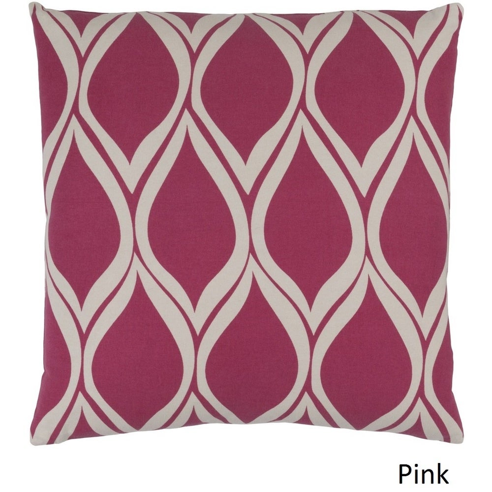 Shop Decorative Pico 22-inch Poly or Feather Down Filled Throw Pillow - Overstock - 11484043