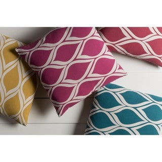 Decorative Pico 22-inch Poly or Down Filled Throw Pillow