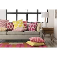 Decorative Path 20-inch Poly or Down Filled Throw Pillow