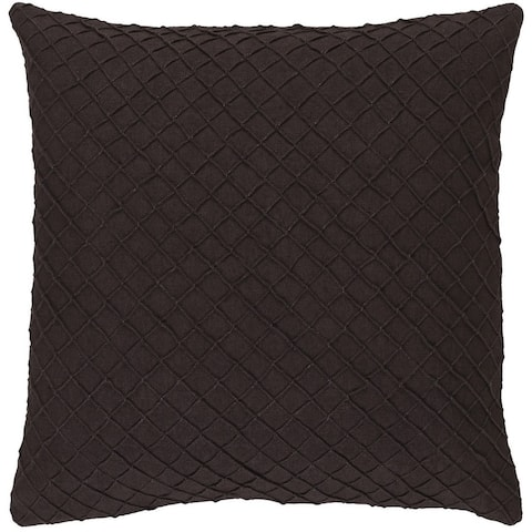 Decorative Reed 18-inch Poly or Feather Down Filled Throw Pillow