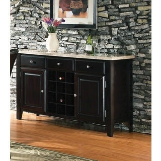 Greyson Living Malone Marble Top Server with Wine Storage