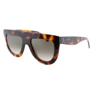 Celine CL 41398 Andrea 05L Havana Plastic Brown Gradient Lens Fashion Sunglasses