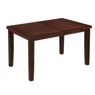 CorLiving Warm Brown Counter Height Dining Table with Hidden Extendable Leaf
