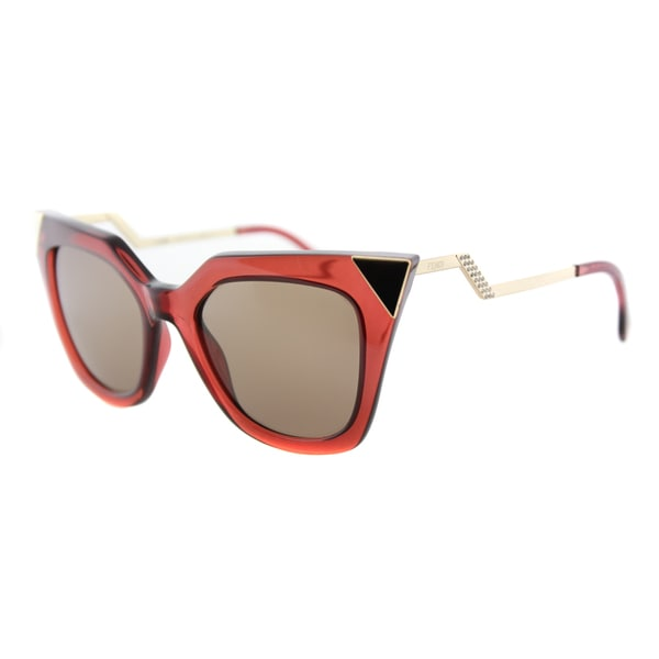 Fendi FF 0060 N9M Brick Gold Plastic Brown Mirror Lens Sunglasses. Opens flyout.