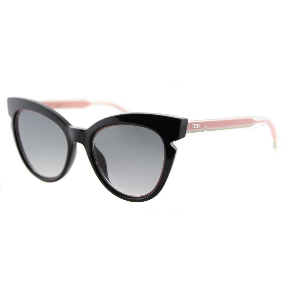 Fendi FF 0132 N7A Black And Crystal Pink Grey Gradient Le...