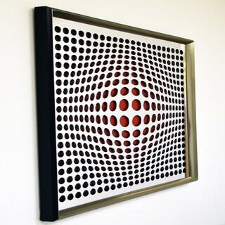 Designart Contemporary Vortex Mirror Framed Acrylic Mirror