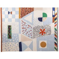 Hand-tufted Hans Andersen Home Achille Multicolored Wool Rug (6'7 x 5')