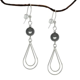Jewelry by Dawn Hematite Double Teardrop Sterling Silver Earrings