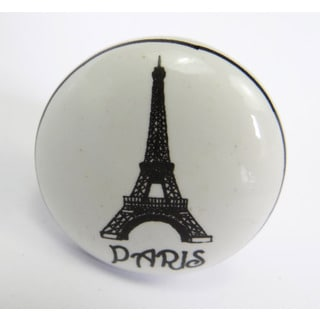 Paris Eiffel Tower Ceramic Drawer/ Door/ Cabinet Knobs (Pack of 6)