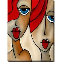 Tom Fedro 'And She Was' Giclee Print Canvas Wall Art