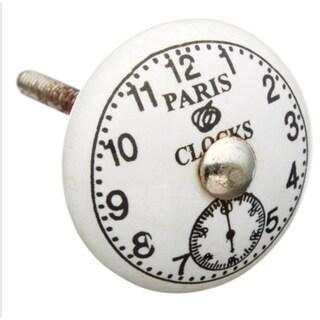 Paris Clocks Ceramic Drawer/ Door/ Cabinet Knob (Pack of 6)