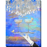 BY Jodi 'Cheers Blue' Giclee Print Canvas Wall Art