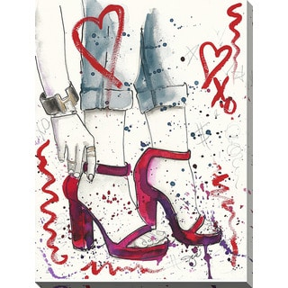 BY Jodi 'Red Shoes' Giclee Print Canvas Wall Art