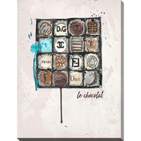 BY Jodi 'Chanel Chocolate' Giclee Print Canvas Wall Art
