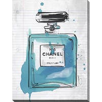 BY Jodi 'Chanel At School Blue' Giclee Print Canvas Wall Art