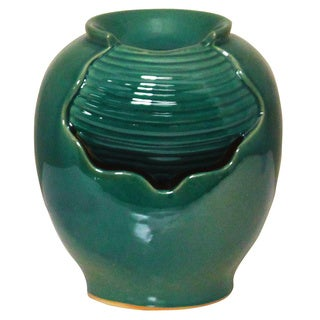 Green Water Indoor/Outdoor Ceramic Fountain