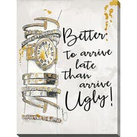 BY Jodi 'Arrive Late' Giclee Print Canvas Wall Art