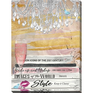 BY Jodi 'Well Read Pink' Giclee Print Canvas Wall Art