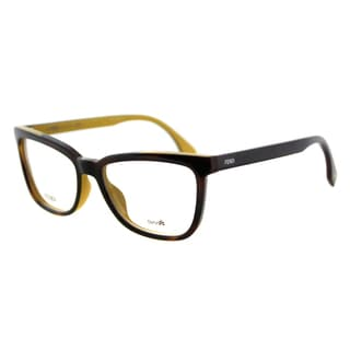 Fendi FF 0122 MFR Havana on Yellow Plastic 53mm Eyeglasses