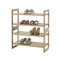 Trinity Bamboo Shoe Rack (Pack of 2)