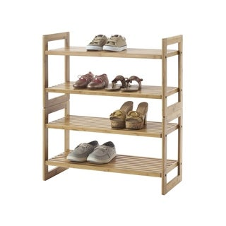Trinity Tan Bamboo Shoe Rack (Set of 2)
