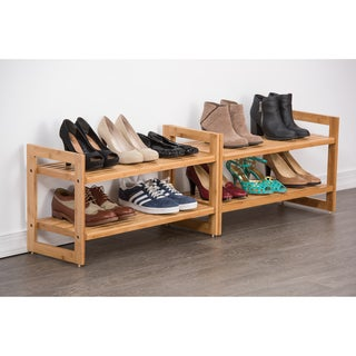 Trinity Bamboo Shoe Rack (Pack of 2)