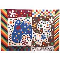 Hand-tufted Hans Andersen Home Adar Multicolored Wool Rug (5'9 x 8'2.5)