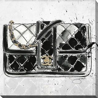 BY Jodi 'Chanel Bag Black' Giclee Print Canvas Wall Art