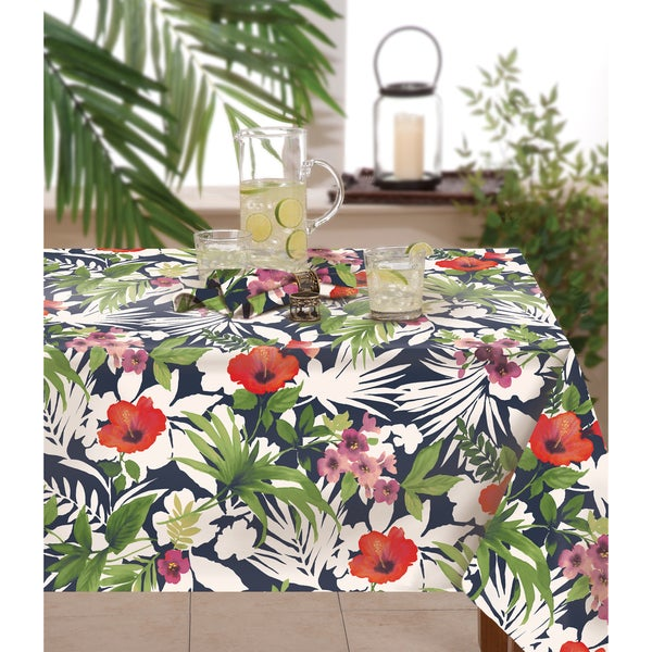 Tommy Bahama Bernini Floral Indoor / Outdoor Table Cloth - Free ...
