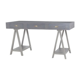 Dimond Home Huffman Desk in Antique Smoke and Grain De Bois Garden Gate